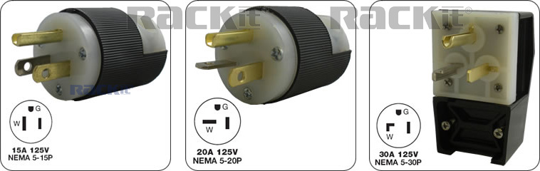 NEMA straight-blade plugs and receptacles